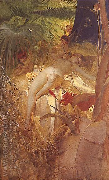 Karleksnymf Love Nymph 1885 - Anders Zorn reproduction oil painting