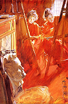 Les Demoiselles Schwartz 1889 - Anders Zorn reproduction oil painting