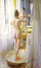 Le Tub The Tub 1888 - Anders Zorn reproduction oil painting