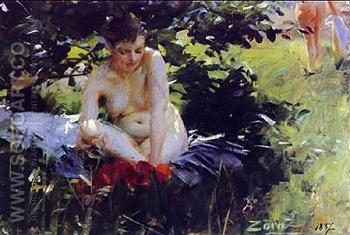 Red Stockings 1887 - Anders Zorn reproduction oil painting