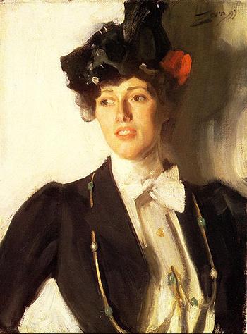 Martha Dana Mrs William R Mercer - Anders Zorn reproduction oil painting