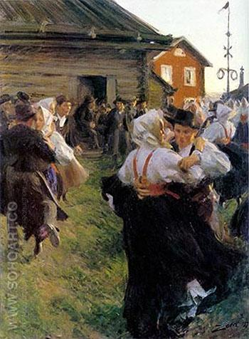 Midsummer Dance 1897 - Anders Zorn reproduction oil painting