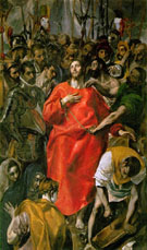 The Spoilation  c1577 - El Greco reproduction oil painting