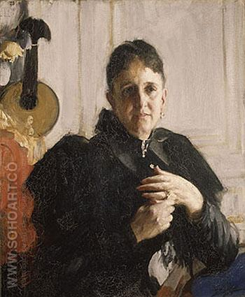 Mrs John Crosby Brown c1900 - Anders Zorn reproduction oil painting