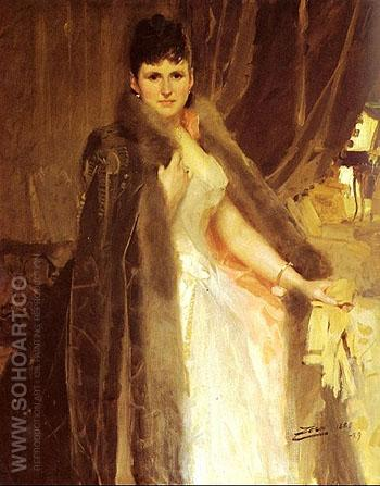 Mrs Symons - Anders Zorn reproduction oil painting