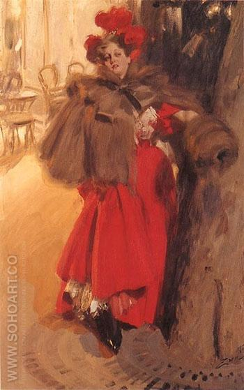Natteffekt 1895 - Anders Zorn reproduction oil painting
