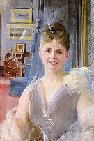 Portrait of Edith Palgrave Edward in Her London Residence - Anders Zorn reproduction oil painting