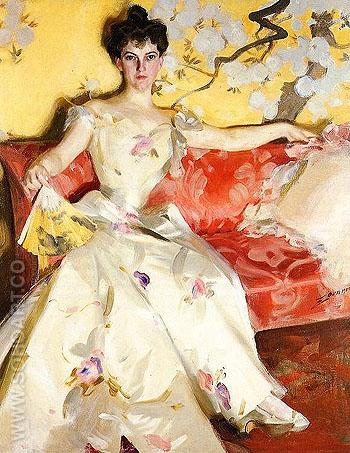 Portrait of Elizabeth Sherman Cameron - Anders Zorn reproduction oil painting