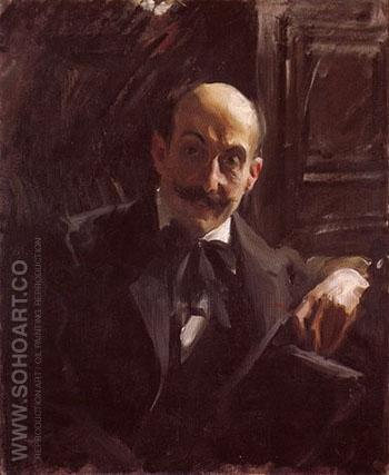 Portrait of Max Liebermann 1891 - Anders Zorn reproduction oil painting