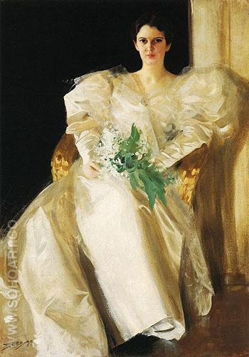Portrait of Mrs Eben Richards - Anders Zorn reproduction oil painting