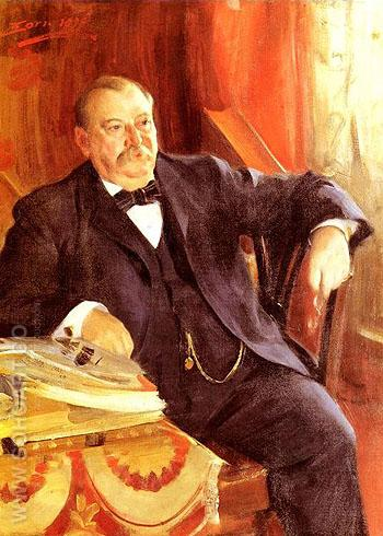 President Grover Cleveland 1899 - Anders Zorn reproduction oil painting