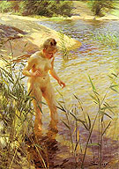 Reflexions 1889 - Anders Zorn reproduction oil painting
