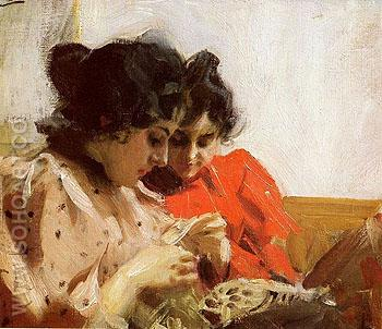 Spetssom - Anders Zorn reproduction oil painting