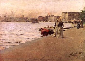 Utsikt Fran Skeppsholmskajen - Anders Zorn reproduction oil painting