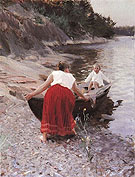 Woman in Red Skirt 1894 - Anders Zorn reproduction oil painting