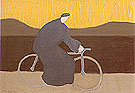 Bicycle Rider by the Loire 1954 - Milton Avery