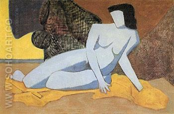 Blue Nude 1947 - Milton Avery reproduction oil painting