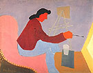 Female Painter 1945 - Milton Avery