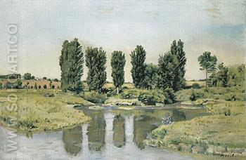 The Little Lakes 1878 - Ferdinand Hodler reproduction oil painting