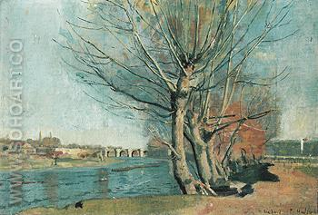 On the Bank of the Manzanares c1878 - Ferdinand Hodler reproduction oil painting