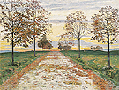Fall Evening 1892 - Ferdinand Hodler reproduction oil painting