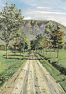 Road to Evordes 1890 - Ferdinand Hodler reproduction oil painting