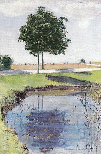 Chestnut Trees 1889 - Ferdinand Hodler reproduction oil painting