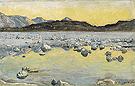 Maggia Delta before Sunrise 1893 - Ferdinand Hodler reproduction oil painting