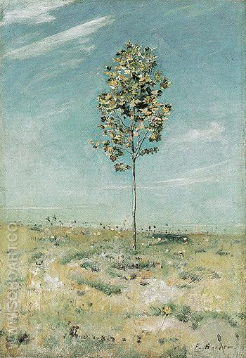 Small Plane Tree 1890 - Ferdinand Hodler reproduction oil painting