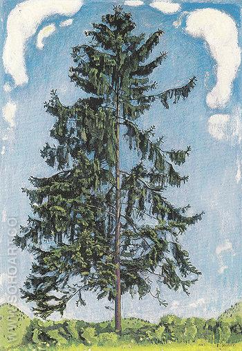 Fir Tree near Chamby 1905 - Ferdinand Hodler reproduction oil painting