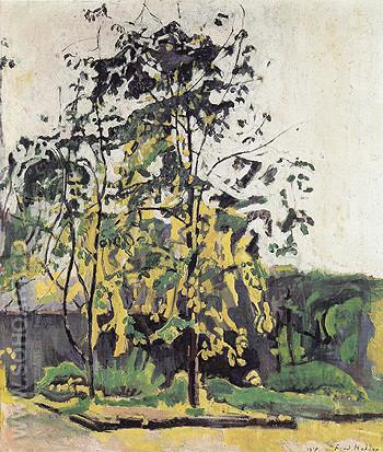 Trees in the Studio Garden 1917 - Ferdinand Hodler reproduction oil painting