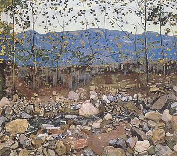 Forest Brook near Leissigen 1904 - Ferdinand Hodler reproduction oil painting