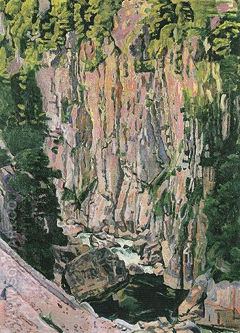 Aare Gorge 1907 - Ferdinand Hodler reproduction oil painting
