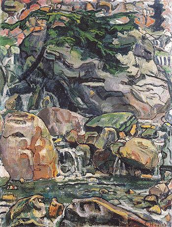 Alpine Brook near Beatenberg 1910 - Ferdinand Hodler reproduction oil painting