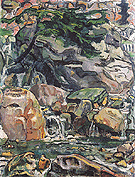 Alpine Brook near Beatenberg 1910 - Ferdinand Hodler reproduction oil painting
