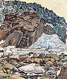 Grindelwald Glacier 1912 - Ferdinand Hodler reproduction oil painting