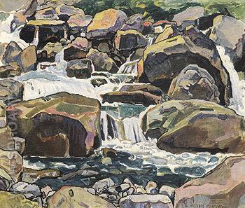 Alpine Brook near Champery 1916 - Ferdinand Hodler reproduction oil painting
