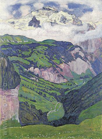 Jungfrau from Isenfluh 1902 - Ferdinand Hodler reproduction oil painting