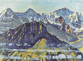 Eiger Monch and Jungfrau in the Morning Sun 1908 - Ferdinand Hodler reproduction oil painting