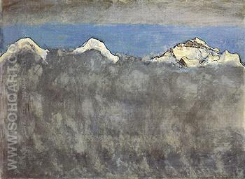 Eiger Monch and Jungfrau above a Sea of Fog 1908 - Ferdinand Hodler reproduction oil painting