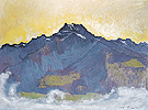 Dents du Midi from Chesieres 1912 - Ferdinand Hodler reproduction oil painting