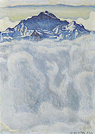 Jungfrau above a Sea of Fog 1908 - Ferdinand Hodler reproduction oil painting