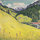 Kiental with Blumlisalp 1902 - Ferdinand Hodler reproduction oil painting