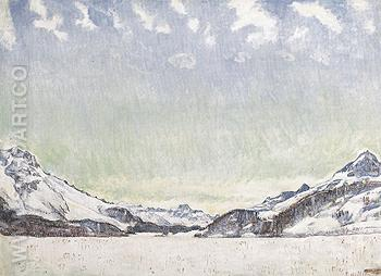Snow in the Engadin 1907 - Ferdinand Hodler reproduction oil painting