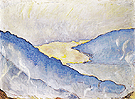 Evening Mist on Lake Thun 1908 - Ferdinand Hodler reproduction oil painting