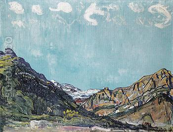 Landscape near Champery 1913 - Ferdinand Hodler reproduction oil painting