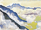 Dents du Midi from Caux 1917 - Ferdinand Hodler reproduction oil painting
