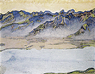 Mist Rising above the Savoy Alps 1917 - Ferdinand Hodler reproduction oil painting
