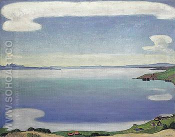Lake Geneva from Chexbres 1905 - Ferdinand Hodler reproduction oil painting
