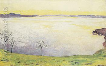 Lake Geneva from Chexbres 1911 - Ferdinand Hodler reproduction oil painting